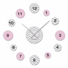 Pink and Gray Chevron Zig Zag DIY Clock and Decal Set