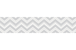 Pink and Gray Chevron Zig Zag Kids and Baby Modern Wall Paper Border by Sweet Jojo Designs