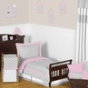 Pink and Gray Chevron Zig Zag Toddler Bedding - 5pc Set by Sweet Jojo Designs