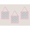 Pink and Gray Chevron Zig Zag Wall Hanging Accessories by Sweet Jojo Designs