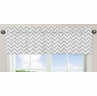 Window Valance for Pink and Gray Chevron Zig Zag�Bedding Collection by Sweet Jojo Designs
