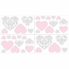 Pink and Gray Elizabeth Baby, Childrens and Kids Wall Decal Stickers by Sweet Jojo Designs - Set of 4 Sheets
