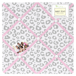 Pink and Gray Kenya Fabric Memory/Memo Photo Bulletin Board by Sweet Jojo Designs