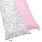 Pink and Gray Kenya Full Length Double Zippered Body Pillow Case Cover by Sweet Jojo Designs