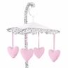 Pink and Gray Kenya Musical Baby Crib Mobile by Sweet Jojo Designs