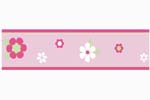 Pink and Green Flower Baby and Childrens Wall Border by Sweet Jojo Designs
