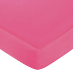 Pink and Green Flower Fitted Crib Sheet for Baby and Toddler Bedding Sets by Sweet Jojo Designs - Solid Dark Pink