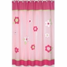 Pink and Green Flower Kids Bathroom Fabric Bath Shower Curtain
