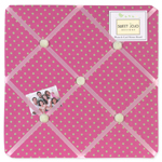 Pink and Green Jungle Friends Polka Dot Fabric Memory/Memo Photo Bulletin Board