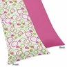 Pink and Green Modern Circles Full Length Double Zippered Body Pillow Case Cover
