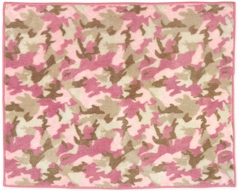 Pink and Khaki Camo Accent Floor Rug