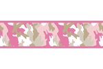 Pink and Khaki Camo Army Camouflage Baby, Kids and Teens Wall Paper Border by Sweet Jojo Designs