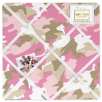 Pink and Khaki Camo Fabric Memory/Memo Photo Bulletin Board