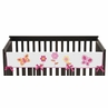 Pink and Orange Butterfly Baby Crib Long Rail Guard Cover by Sweet Jojo Designs