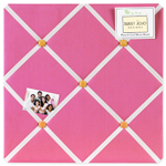 Pink and Orange Butterfly Fabric Memory/Memo Photo Bulletin Board