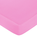 Pink and Orange Butterfly Fitted Crib Sheet for Baby and Toddler Bedding Sets by Sweet Jojo Designs - Solid Pink