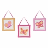 Pink and Orange Butterfly Wall Art Hangings