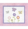 Pink and Purple Butterfly Accent Floor Rug