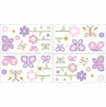 Pink and Purple Butterfly Baby and Childrens Wall Decal Stickers - Set of 4 Sheets