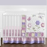 Pink and Purple Butterfly Baby Bedding - 4pc Crib Set
