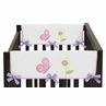 Pink and Purple Butterfly Baby Crib Side Rail Guard Covers by Sweet Jojo Designs - Set of 2