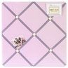 Pink and Purple Butterfly Fabric Memory/Memo Photo Bulletin Board