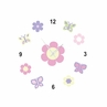 Pink and Purple Butterfly Kids and Baby DIY Clock with Stickers by Sweet Jojo Designs