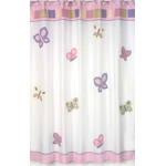 JoJo Designs Pink and Purple Butterfly Kids Bathroom Fabr...