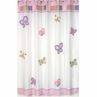 Pink and Purple Butterfly Kids Bathroom Fabric Bath Shower Curtain