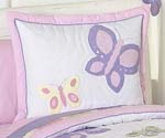 Pink and Purple Butterfly Pillow Sham