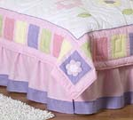 Pink and Purple Butterfly Queen Bed Skirt by Sweet Jojo D...