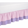 Pink and Purple Butterfly Queen Bed Skirt by Sweet Jojo Designs