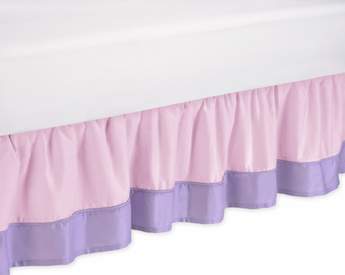 Pink and purple butterfly queen bed skirt by sweet jojo - Pink and purple bedding queen ...