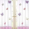 Pink and Purple Butterfly Window Treatment Panel - Set of 2