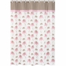 Pink and Taupe Mod Elephant Kids Bathroom Fabric Bath Shower Curtain by Sweet Jojo Designs
