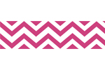 Hot Pink and White Chevron Zig Zag Kids and Baby Modern Wall Paper Border