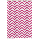 Hot Pink and White Chevron Zig Zag Kids Bathroom Fabric Bath Shower Curtain