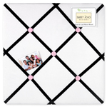 Pink, Black and White Princess Fabric Memory/Memo Photo Bulletin Board