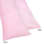 Pink Chenille and Satin Full Length Double Zippered Body Pillow Case Cover by Sweet Jojo Designs