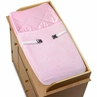 Pink Chenille and Satin Girls Changing Pad Cover