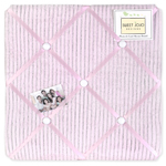 Pink Chenille and Satin Girls Fabric Memory/Memo Photo Bulletin Board