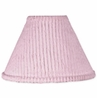 Pink Chenille and Satin Girls Lamp Shade