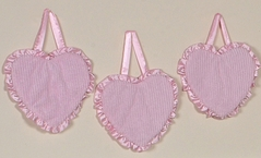 Pink Chenille and Satin Girls Wall Hangings