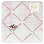 Pink French Toile Fabric Memory/Memo Photo Bulletin Board