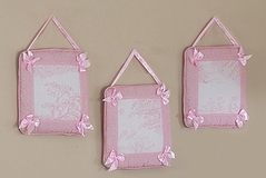 Pink French Toile Wall Hangings