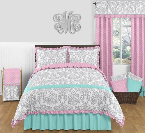 Queen Beds For Teenage Girls Pink, Gray and ...