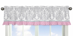 Pink, Gray and Turquoise Skylar Collection Window Valance by Sweet Jojo Designs