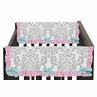 Pink, Gray and Turquoise Skylar Baby Crib Side Rail Guard Covers by Sweet Jojo Designs - Set of 2