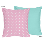 Pink and Turquoise Skylar Decorative Accent Throw Pillow by Sweet Jojo Designs