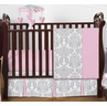Pink, Gray and White Elizabeth Baby Bedding - 4pc Girls Crib Set by Sweet Jojo Designs